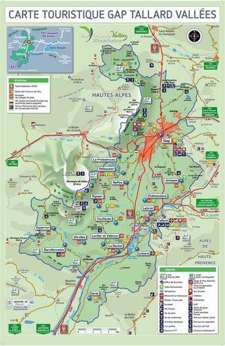 Mappa turistica Gap Tallard Vallées